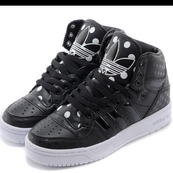 official photos b188e d713a adidas Shoes | Attitude Originals Logo Hi Top Polka Dot | Poshmark